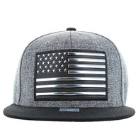 SM794 USA Flag Snapback (Charcoal & Black)