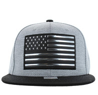 SM794 USA Flag Snapback (Grey & Black)