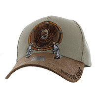 VM669 Native Pride Bear Velcro Cap (Khaki)