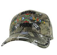 VM485 Native Pride Arrow Velcro Cap (Solid Hunting Camo)