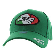 VM902 Mexico Cotton Baseball Cap Hat  (Kelly Green & Kelly Green)