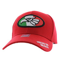 VM902 Mexico Cotton Baseball Cap Hat  (Red & Red)