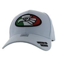 VM902 Mexico Cotton Baseball Cap Hat  (White & White)