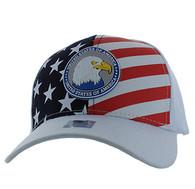 VM949 American USA Eagle Velcro Cap (Solid White)