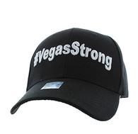 VM011 Las Vegas Strong Velcro Cap (Solid Black)