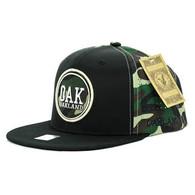 SM062 Oakland Snapback Cap (Black & Military Camo)
