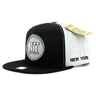 SM062 New York Snapback Cap (Black & Light Grey)