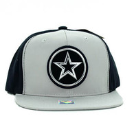 SM062 Star Snapback Cap (Light Grey & Black)