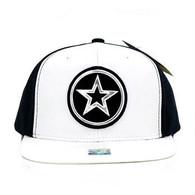 SM062 Star Snapback Cap (White & Black)