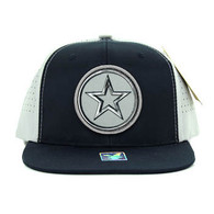 SM062 Star Snapback Cap (Navy & Light Grey)