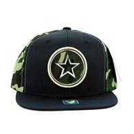 SM062 Star Snapback Cap (Navy & Military Camo)