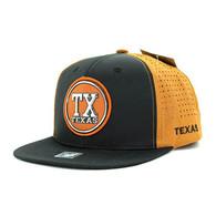 SM062 Texas Snapback Cap (Black & Texas Orange)
