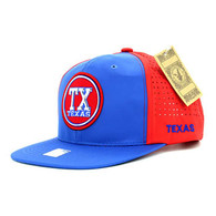 SM062 Texas Snapback Cap (Royal & Red)