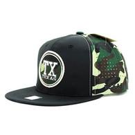 SM062 Texas Snapback Cap (Black & Military Camo)