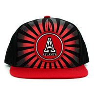 SM932 Atlanta Snapback Cap (Black & Red)