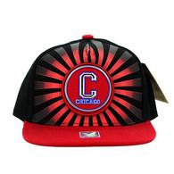 SM932 Chicago Snapback Cap (Black & Red)