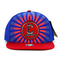 SM932 Chicago Snapback Cap (Royal & Red)