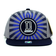 SM932 Dallas Snapback Cap (Grey & Navy)