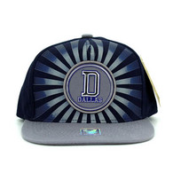 SM932 Dallas Snapback Cap (Navy & Grey)