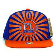 SM932 Florida Snapback Cap (Royal & Orange)