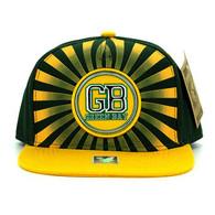 SM932 Green Bay Snapback Cap (Dark Green & Gold)