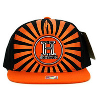 SM932 Houston Snapback Cap (Black & Orange)