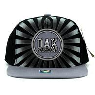 SM932 Oakland Snapback Cap (Black & Grey)
