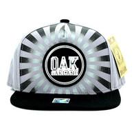 SM932 Oakland Snapback Cap (Grey & Black)
