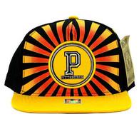 SM932 Pittsburgh Snapback Cap (Black & Gold)