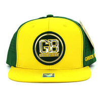 SM062 Green Bay Snapback Cap (Gold & Dark Green)