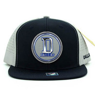 SM062 Dallas Snapback Cap (Navy & Grey)