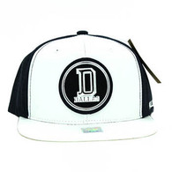 SM062 Dallas Snapback Cap (White & Navy)