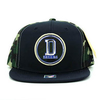 SM062 Dallas Snapback Cap (Navy & Military Camo)