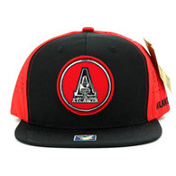 SM062 Atlanta Snapback Cap (Black & Red)