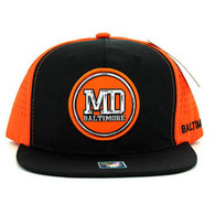 SM062 Baltimore Snapback Cap (Black & Orange)
