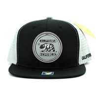 SM062 Cali Bear Snapback Cap (Black & Grey)