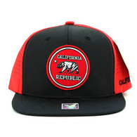 SM062 Cali Bear Snapback Cap (Black & Red)