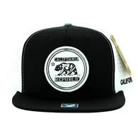SM062 Cali Bear Snapback Cap (Black & White)