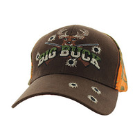 VM555 Big Buck Velcro Cap (Brown & Orange Camo)