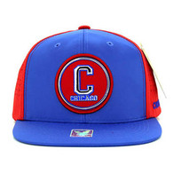 SM062 Chicago Snapback Cap (Royal & Red)