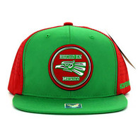 SM062 Hecho En Mexico Snapback Cap (Kelly Green & Red)