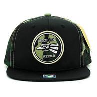 SM062 Hecho En Mexico Snapback Cap (Black & Military Camo)