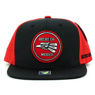 SM062 Hecho En Mexico Snapback Cap (Black & Red)