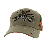 VM555 Big Buck Velcro Cap (Khaki & Orange Camo)