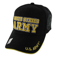 VM010 Military License Army #3 Baseball Velcro Cap (Solid Black)