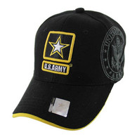 VM010 Military License Army #7 Baseball Velcro Cap (Solid Black)