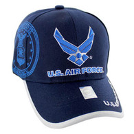 VM030 Military License Air Force #3 Baseball Velcro Cap (Solid Navy)