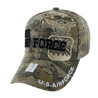 VM030 Military License Air Force #5 Baseball Velcro Cap (Solid Digital Camo)