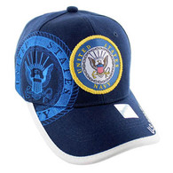 VM020 Military License Navy #1 Baseball Velcro Cap (Solid Navy)