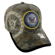 VM020 Military License Navy #2 Baseball Velcro Cap (Solid Digital Camo)